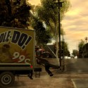 Niko hangs from the back of a delivery truck. | Views: 2537