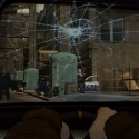 A bullet rips a hole through the windscreen. | Views: 2470
