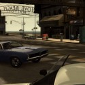 Niko pulls away from a police car in a blue Stallion. | Views: 2574