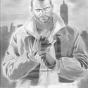Niko Bellic Drawing By Ross Allen Sostre | Views: 8713