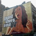 A GTA4 painted billboard in New York City. | Views: 2645