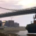 A tugboat under a bridge | Views: 2034