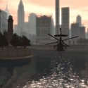 A helicopter flies towards the city | Views: 2147