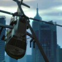 A helicopter flies through the city | Views: 1350