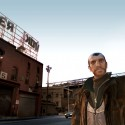 Niko stands in front of a humorous 'Cherkov' building. | Views: 2239