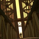 Niko running down the Algonquin Bridge   Views: 3657