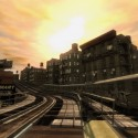 A train heads along some elevated tracks. | Views: 2365