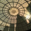 The light shines through a patterned glass roof. | Views: 2312