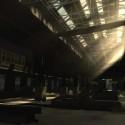 The sunlight brightens a dark warehouse. | Views: 1278