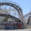 The Cyclone Roller Coaster.   Views: 2056