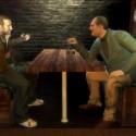 Vlad and Niko at a bar.   Views: 2635