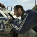 Shot-up cop car. | Views: 989